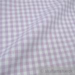 Stoff Baumwolle Bauernkaro flieder weiß 1 cm Karo Vichy Karo beidseitig lila
