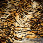 Stoff Polyester Plüsch Tiger Fellimitat Fell Tigerfell