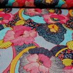 Stoff Baumwolle Acryl Orchidee pink wasserabweisend beschichtet Tischdecke