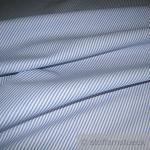 Stoff Baumwolle Zündholzstreifen mittelblau weiß weiss 1, 5 mm Streifen schmal