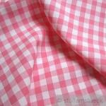Stoff Baumwolle Bauernkaro rosa weiß 1 cm Karo Vichy Karo beidseitig