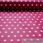 Stoff Baumwolle Acryl Punkte himbeer weiß Regenjacke beschichtet