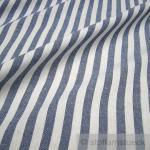 Stoff Baumwolle Bauernstreifen dunkelblau weiß 1 cm Streifen