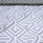 Stoff Baumwolle Rips Geometrie Raute Öko-Tex Standard 100