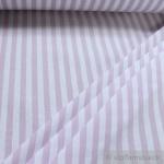 Stoff Baumwolle Bauernstreifen flieder weiß 1 cm Streifen