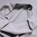 0, 5 Meter Baumwolle Polyester Elastan Bündchen hellgrau meliert 45 cm breit