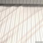 10 Meter Stoff Viskose Futter Taft weiß Streifen Futterstoff Futtertaft