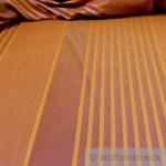 Stoff Trevira® CS Taft Streifen braun ocker 300 cm breit nicht brennbar B1