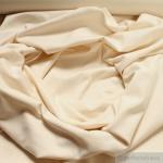 0, 5 Meter Baumwolle Elastan Bündchen creme kbA GOTS 82 cm breit C.Pauli