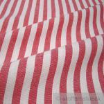 Stoff Baumwolle Bauernstreifen rot weiß 1 cm Streifen