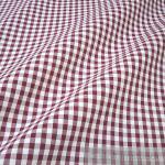 Stoff Baumwolle Bauernkaro bordeaux weiß 1 cm Karo Vichy Karo beidseitig