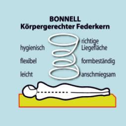 Malie Leo Bonnell-Federkern-Matratze H2,H3 - Vorschau 4
