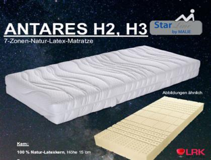 "Malie 7-Zonen-Natur-Latex-Matratze ""Antares"" H2, H3"