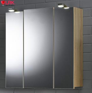 5423 Badezimmer Spiegelschrank Salona mit LED Beleuchtung in verschied. Farben