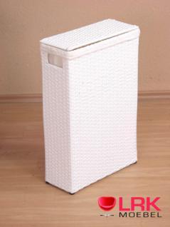 7518 Wäschetruhe Raumspar-Wäschekorb Wäschebox Stabiles Gestell Handgeflochten