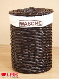 7463 Wäschetruhe Wäschekorb Wäschebox Geräumig aus KUBU-Rattan Handgeflochten