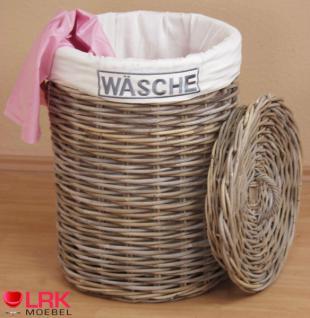 7463 Wäschetruhe Wäschekorb Wäschebox Geräumig aus KUBU-Rattan Handgeflochten - Vorschau 2