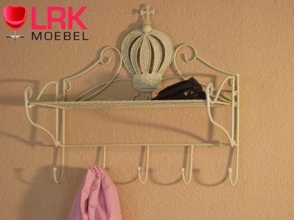 1159 Garderobenleiste Garderobe Wandgarderobe mit 5 Haken und Gitterablageboden