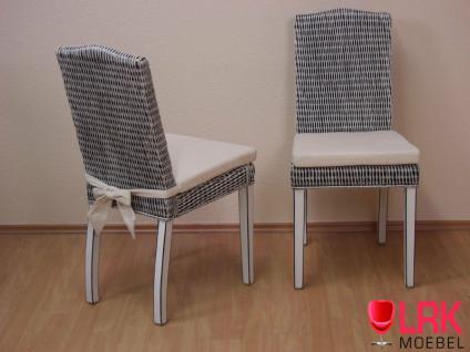 8457 Rattanstuhl 2er-Set ,Stuhl, Stühle Esszimmerstuhl,Stabile Stühle , Massiv