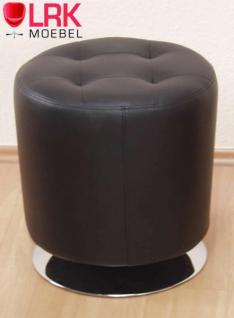 4442 Sitzhocker, Lounge-Sitzhocker, Polsterhocker, Hocker Drehbar in 6 Farben - Vorschau 3