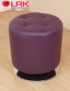 4442 Sitzhocker, Lounge-Sitzhocker, Polsterhocker, Hocker Drehbar in 6 Farben - Vorschau 4