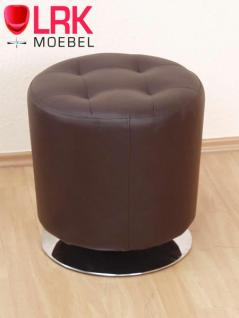 4442 Sitzhocker, Lounge-Sitzhocker, Polsterhocker, Hocker Drehbar in 6 Farben - Vorschau 5