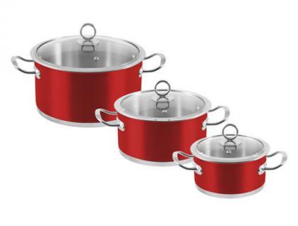 """6-tlg. Kochtopf-Set """"Rossa"""" Kochtöpfe Topf Essen Kochen Küche Set Neu Qualität"""