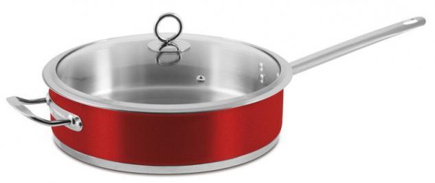 """Pfanne 28cm mit Glasdeckel """"Rossa"""" Bratpfanne Kochen Essen Küche Neu Qualität"""