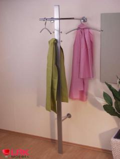 1204 Wandgarderobe inkl. 3 Kleiderbügel Möbel Garderobe Haken Garderobenhaken