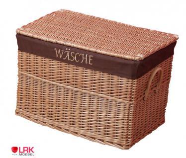 7512 Wäschetruhe Wäschebox Korb Wäschekorb sehr Stabil Handgeflochten