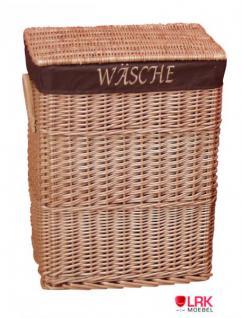Wäschekorb Wäschebox Korb Wäschetruhe sehr Stabil Handgeflochten