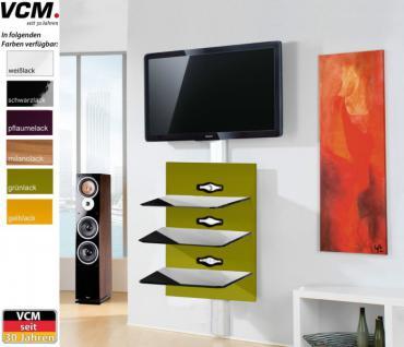 VCM Schwarzglas Xeno-3 TV Hifi Wandkonsole Wandpaneel Wandhalterung in 6 Farben - Vorschau 2