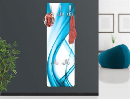 "Design Wandgarderobe ""BLUE"" Print Garderobe Möbel Diele Flur Haken Neu"