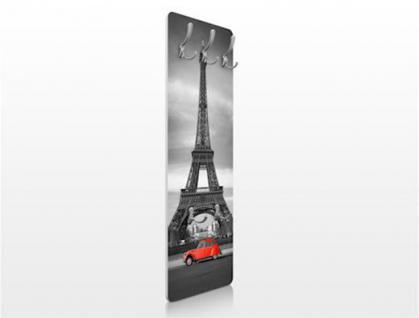 "Design Wandgarderobe ""Paris"" Print Garderobe Möbel Diele Flur Haken Neu - Vorschau 3"