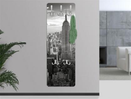 Design Wandgarderobe Manhattan Print Garderobe Möbel Diele Flur Haken Neu - Vorschau 1