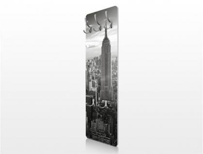 Design Wandgarderobe Manhattan Print Garderobe Möbel Diele Flur Haken Neu - Vorschau 2