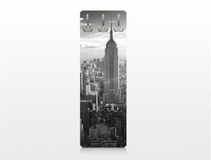 Design Wandgarderobe Manhattan Print Garderobe Möbel Diele Flur Haken Neu - Vorschau 3