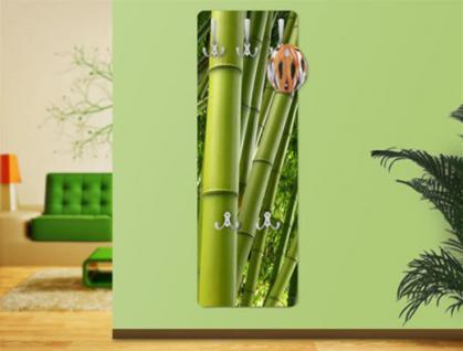 Design Wandgarderobe Bamboo Trees Print Garderobe Möbel Diele Flur Haken Neu