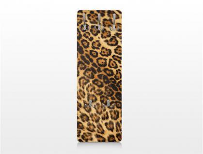 Design Wandgarderobe Jaguar Druck Print Garderobe Möbel Diele Flur Haken Neu - Vorschau 3