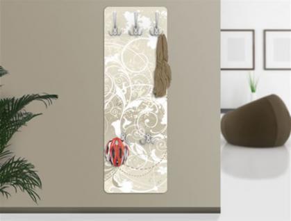 Design Wandgarderobe Perlmutt Druck Print Garderobe Möbel Diele Flur Haken