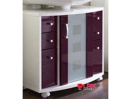 5418 Badezimmer Waschbeckenunterschrank Nizas Rolli Hochglanz in versch. Farben
