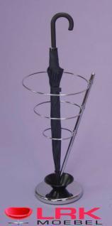 2822 Schirmständer Regenschirmständer mit Wasserschale schönes Design Verchromt - Vorschau