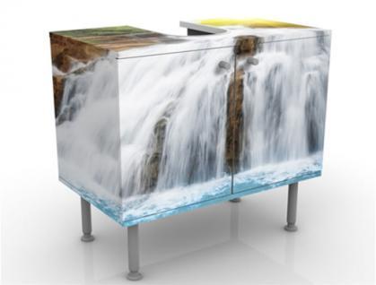 Waschbeckenunterschrank Schrank Bad Badmöbel Möbel Waschtisch Premium Print