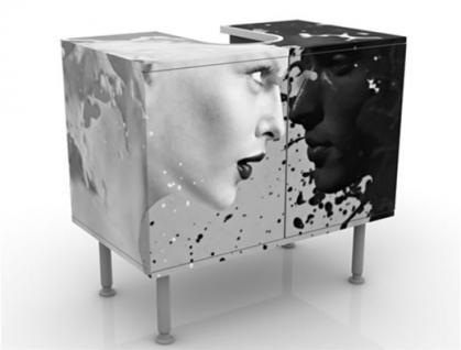 Waschbeckenunterschrank Schrank Bad Badmöbel Möbel Waschtisch Premium Print - Vorschau 1