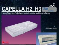 """Malie Luxus-Taschen-Federkern-Matratze """"Capella"""" H2, H3"""
