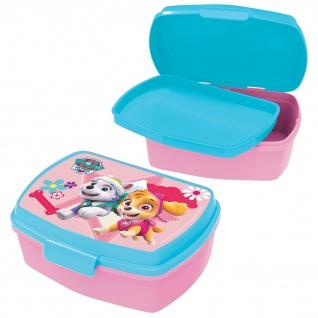 PAW PATROL Kinder Brotdose mit Einsatz aus Kunststoff rosa türkis
