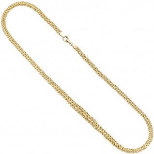 Collier Halskette im Verlauf 375 Gold Gelbgold 46 cm Kette Goldkette