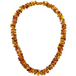 Kette Collier Bernstein Verlauf 50 cm Halskette Bernsteinkette Bernsteincollier
