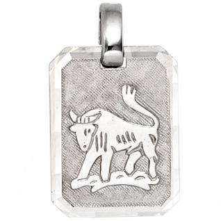 Anhänger Sternzeichen Stier 925 Sterling Silber matt Sternzeichenanhänger