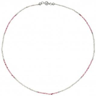 Halskette Kette Labradorit Turmalin und Hämatin 45 cm